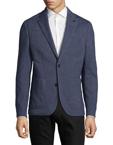 Michael Kors Classic Knit Blazer-BLUE-46