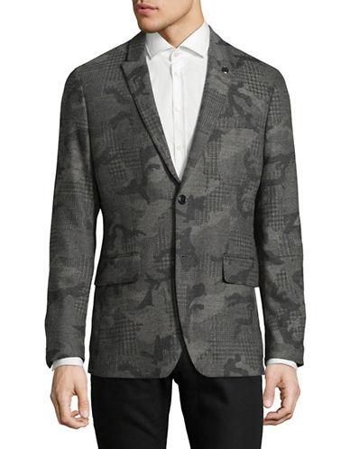 Michael Kors Camouflage Blazer-GREY-38