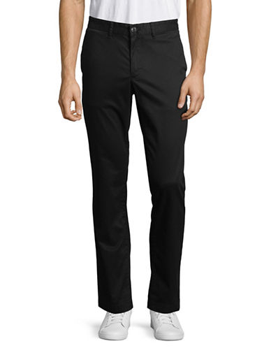 Michael Kors Slim Stretch Chino Pants-BLACK-36X30
