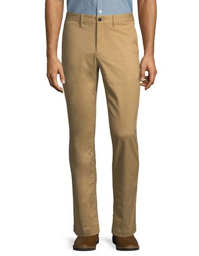 Michael Kors Slim Stretch Chino Pants-BEIGE-38X30