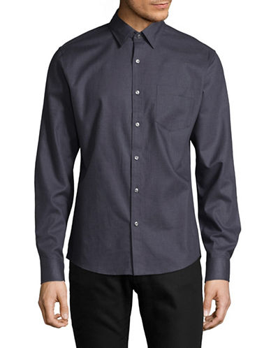 Michael Kors Slim Max Cotton Sport Shirt-PURPLE-XX-Large
