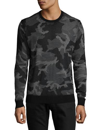 Michael Kors Camouflage Print Merino Wool Sweatshirt-GREY-Small