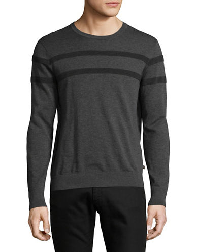 Michael Kors Rib-Stripe Sweater-GREY-Large