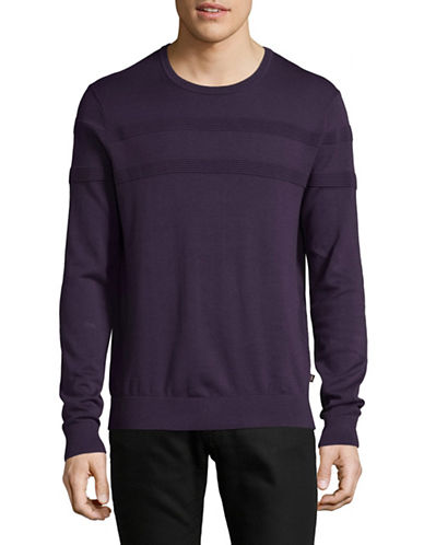 Michael Kors Rib-Stripe Sweater-PURPLE-XX-Large