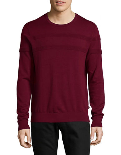 Michael Kors Rib-Stripe Sweater-RED-Large