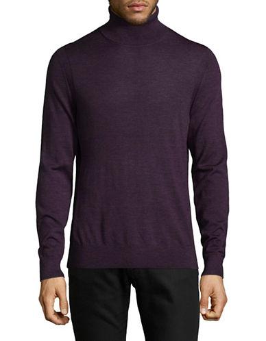 Michael Kors Merino Turtleneck Sweater-PURPLE-Medium