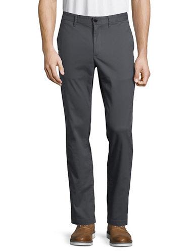 Michael Kors Slim Stretch Chino Pants-GREY-34X30
