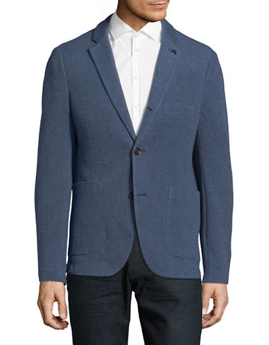 Michael Kors Notch Stretch Knit Blazer-BLUE-40