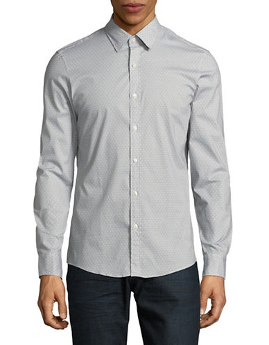 Michael Kors Danton Printed Sport Shirt-BLACK-Medium