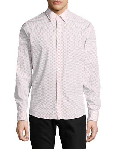 Michael Kors Printed Slim-Fit Cotton Sportshirt-RED-Medium