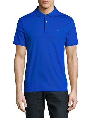 Michael Kors Short Sleeve Logo Polo-BLUE-Medium