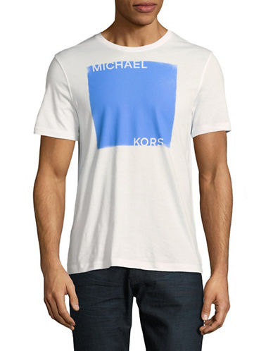Michael Kors Short Sleeve Graphic Tee-WHITE-Medium