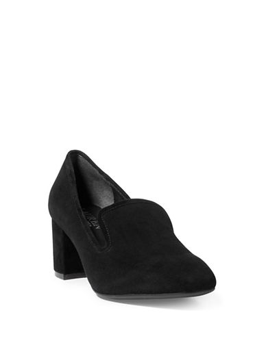 Lauren Ralph Lauren Jenifer Leather Loafer Pumps-BLACK-7