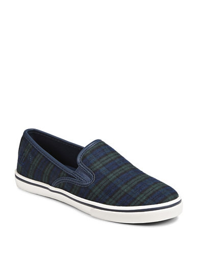 Lauren Ralph Lauren Slip-On Sneakers-GREEN PLAID-6