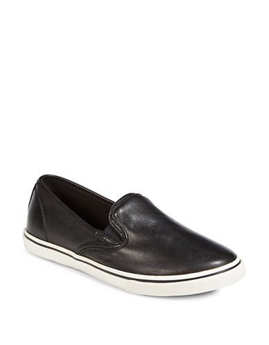 Lauren Ralph Lauren Slip-On Platform Sneakers-BLACK-8.5