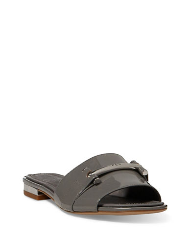 Lauren Ralph Lauren Open Toe Slides-GREY-7.5