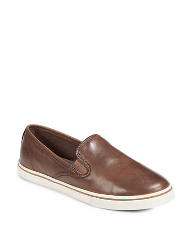 Lauren Ralph Lauren Slip-On Platform Sneakers-SADDLE TAN-5