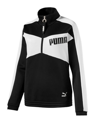 Puma Archive T7 Half-Zip Jacket-BLACK-X-Large 89874285_BLACK_X-Large
