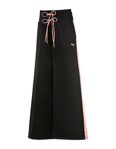 Puma En Pointe Wide-Leg Pants-BLACK-Medium