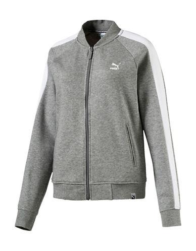 Puma Classics Logo T7 Oversized Track Jacket-GREY-Small 89891591_GREY_Small