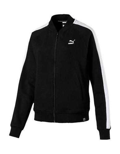 Puma Classics Logo T7 Oversized Track Jacket-BLACK-Large 89891588_BLACK_Large