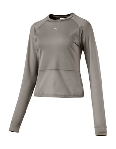 Puma En Pointe Long-Sleeve Top-BEIGE-Small
