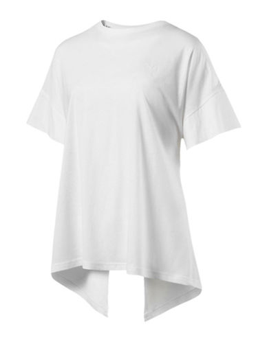 Puma Evo Short-Sleeve Tee-WHITE-Medium 89891602_WHITE_Medium