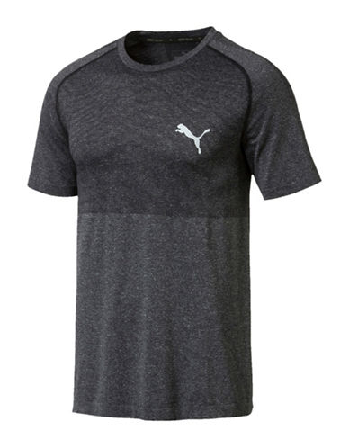 Puma Classic EvoKnit T-Shirt-BLACK-X-Large 89980214_BLACK_X-Large