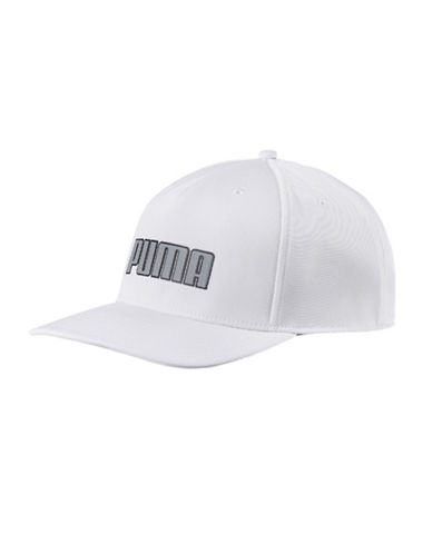 Puma Go Time Flex Snap Back Cap-BRIGHT WHITE-One Size