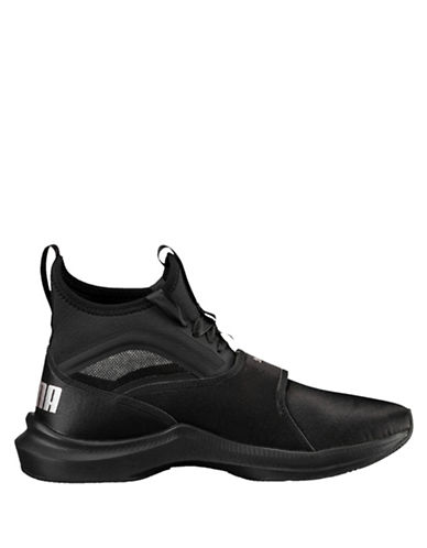 Puma Womens Phenom Satin High Top Sneakers-BLACK-9