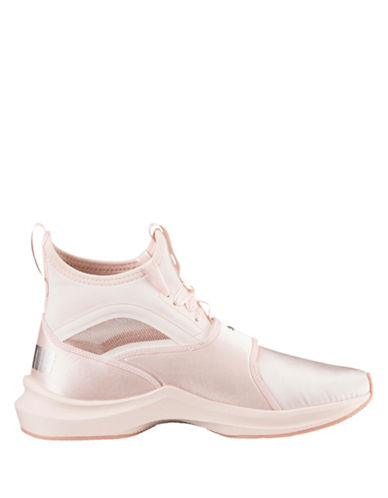 Puma Womens Phenom Satin High Top Sneakers-PEARL-7.5