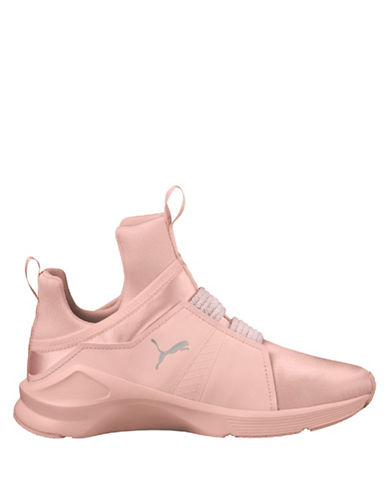 Puma Womens Fierce Satin High Top Sneakers-PEARL-9