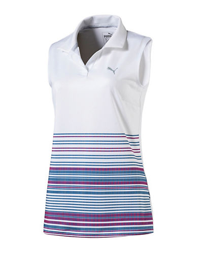 Puma Golf Road Map Sleeveless Polo-WHITE-Medium 90068436_WHITE_Medium