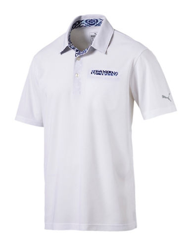 Puma Aloha Performance Golf Polo-WHITE-Medium