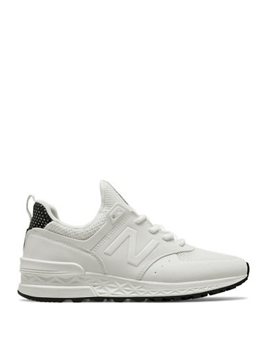 New Balance Womens 574 Sports Sneakers-WHITE-5.5