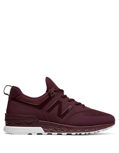 New Balance Mens 574 Training Sneakers-RED-7.5W
