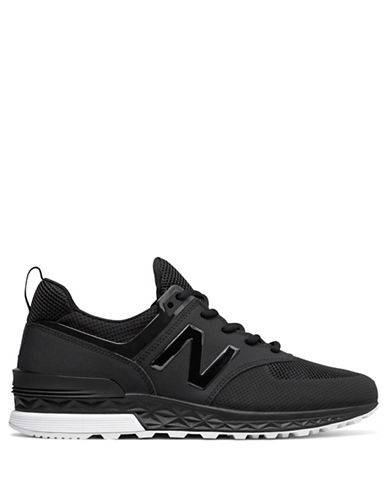 New Balance Mens 574 Training Sneakers-BLACK-8.5W
