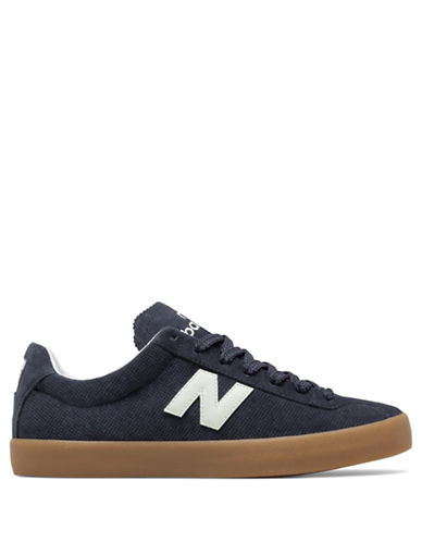 New Balance Mens Pindot Suede Sneakers-NAVY-8.5W