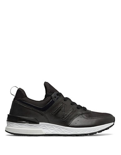 New Balance Womens 574 Sneaker-BLACK-8.5