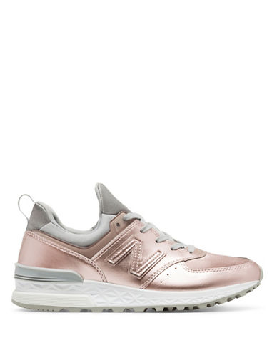 New Balance Womens 574 Sneaker-GOLD-7