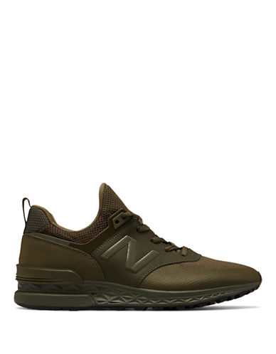New Balance Mens 574S Reengineered Sport Sneaker-GREEN-9.5