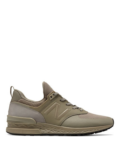 New Balance Mens 574S Reengineered Sport Sneaker-BEIGE-11
