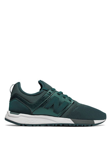 New Balance Womens 247 Trek Sneakers-GREEN-8.5
