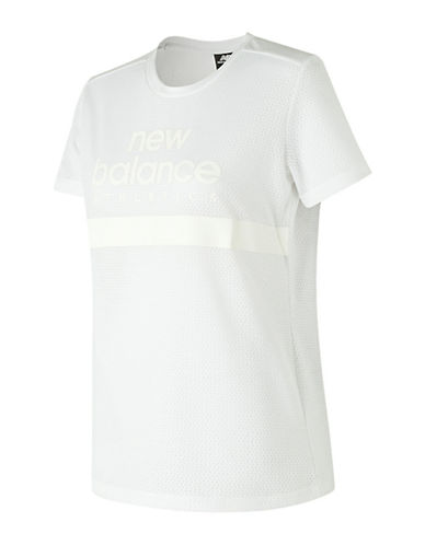 New Balance Athletic Mesh Tee-WHITE-X-Small 90041776_WHITE_X-Small