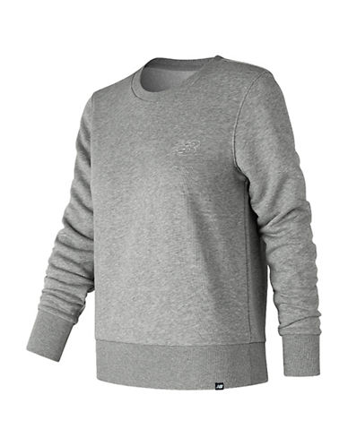 New Balance Heathered Sweatshirt-GREY-Large 90041782_GREY_Large