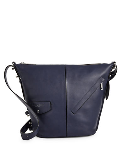 Marc Jacobs The Sling Convertible Leather Bag-BLUE-One Size