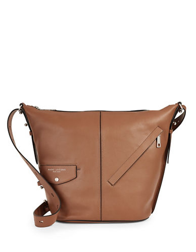 Marc Jacobs The Sling Convertible Leather Bag-BROWN-One Size