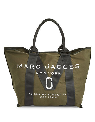 Marc Jacobs New Logo Tote Bag-ARMY GREEN-One Size