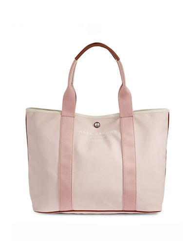 Marc Jacobs Coated Canvas East-West Tote-PINK-One Size