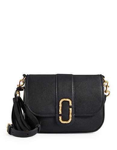 Marc Jacobs Interlock Leather Courier Bag-BLACK-One Size